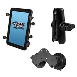 7 In to 8 In Tablet Holder Double Suction Cup Base and Standard Arm