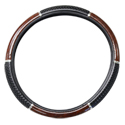 18 Inch Dark Wood PVC Steering Wheel Cover