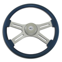18 Inch Blue 4 Spoke Painted Steering Wheel