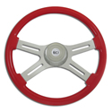 18 Inch Red 4 Spoke Painted Steering Wheel