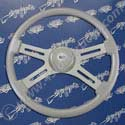 18 Inch Silver 4 Spoke Painted Steering Wheel