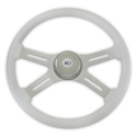 18 Inch White 4 Spoke Painted Steering Wheel