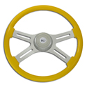 18 Inch Yellow 4 Spoke Painted Steering Wheel