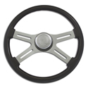 18 Inch Carbon Fiber 4 Spoke Painted Wood Steering Wheel