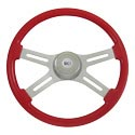 18 Inch Viper Red Steering Wheel