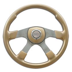 18 Inch Aluminum 4 Spoke Champagne Gold Comfort Steering Wheel