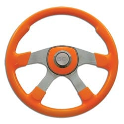 18 Inch Aluminum 4 Spoke Neon Orange Comfort Steering Wheel