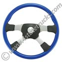 18in Blue Tour America Grant Steering Wheel w 4 Spokes