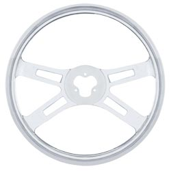 18 Inch Chrome 4 Spoke Stainless Steel Steering Wheel