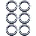 Chrome Toggle Switch Face Nut (Pack Of 6)