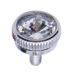 Chrome CB Mounting Screw Pair 6MM Clear