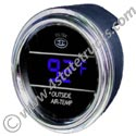 Digital Outside Temperature Gauge - 2in - Blue