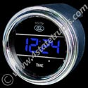 Digital Clock Gauge - 2in - Blue
