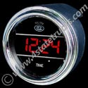 Digital Clock w/ Chrome Bezel - 2-1/16in