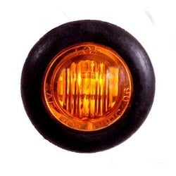 LED Mini Clearance 3/4 Inch Light Amber/Amber With 3 Diodes