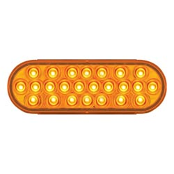 Amber Pearl Oval Marker Clearance LED Light