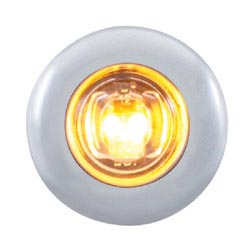 2 Diode LED Clearance Marker Light Amber/Clear with Bezel