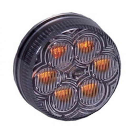 Led 2 Inch Round Clearance Marker Light Amber Clear 4