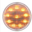 2 Inch Round LED Clearance Light Amber/Clear 10 Diodes