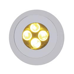 LED Bulkhead Light Amber Has 4 Super Bright Diodes