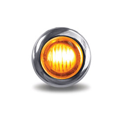 Amber & Blue Mini Button Dual Revolution LED Light