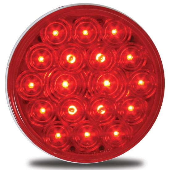 4 Inch Led Stop Turn Tail Light Red Red 18 Diodes 4