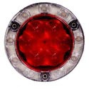 LED Stop/Turn/Tail/Backup Light w/ Flange - 4in Round
