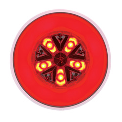 4 Inch Round Glo LED Light Red