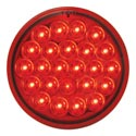 4 Inch Round LED Light Red Pearl Style