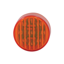 2 Inch Round LED Clearance/Marker Light Red/Red With 9 Diodes