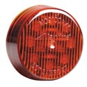 Red 2 Inch Round LED Light 9 Diode Clearance/Marker
