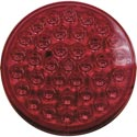 LED 417 Strobe Light 4 Inch Round Light Red