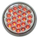 24 Diode Red LED With Clear Lens Marker Light