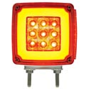 28 Diode Amber & Red LED Square Double Face GLO Turn Signal Light