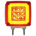 Amber/Red Square LED Double Face Glo Turn Signal Light