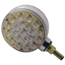 LED Turn Signal Light Double Face Amber/Red With Clear Lens