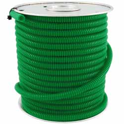 1/4 Inch Green Plastic Wire Loom - Sold Per Foot