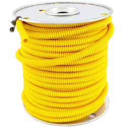 1/4 Inch Yellow Plastic Wire Loom - Sold Per Foot