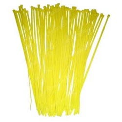 7 1/2 Inch Yellow Colored Wire Ties (Pack Of 25)