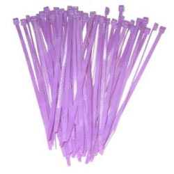 7.5 Inch Purple Colored Wire Ties (Pack Of 25)