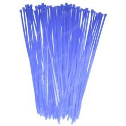 11 Inch Blue Colored Wire Ties (Pack Of 25)