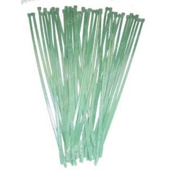 11 Inch Green Colored Wire Ties (Pack Of 25)