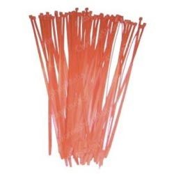 11 Inch Red Colored Wire Ties (Pack Of 25)