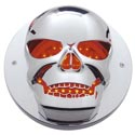 Chrome Skull Bezel fits 4 Inch Light