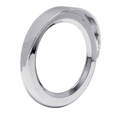 Chrome 4 Inch Bezel Twist On Style With Visor