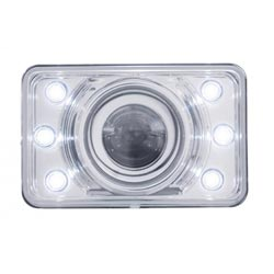 4 X 6 Inch Rectangular LED Low Beam Headlight With 6 Diodes