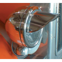 Stainless Headlight Visor - Fit Single Round - Extra Long
