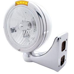 Headlight with Amber LED Turn Signal - Pete Style
