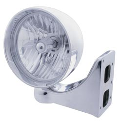 Stainless Steel Rebel Headlight - 7in