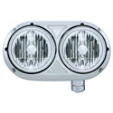 Stainless Dual Round Headlight with Crystal Headlights